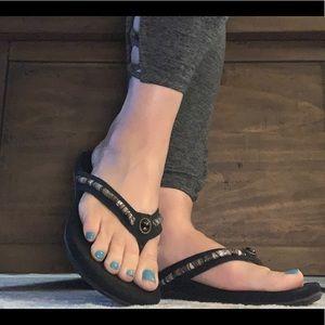 Aetrex Black Hope Orthotic Sandal